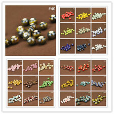 10/30Pcs Round Ceramic Porcelain Loose Spacer Big Hole Beads Charms 10/12mm New