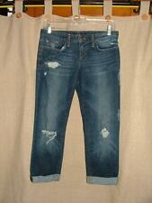 Joe's Jeans Ex-Lover cropped boyfriend jeans distressed Gemma wash 25 x 22.5""