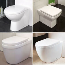 Toilet Bathroom Back To Wall BTW Pan WC Ceramic Cloakroom Soft Close Toilet Seat