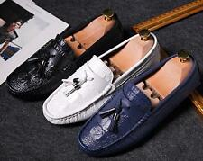 Mens Tassels Casual Faux Leather Slip on Loafers Driving Moccasins Boat Shoes SZ