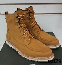 "NIB Timberland 6"" Boots  Britton Hill MOC Toe Suede Wheat for Men TB0A198W $199"