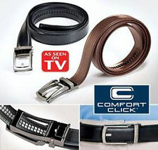 NEW COMFORT CLICK Leather Belt for Men Black or Brown As Seen on TV fashion