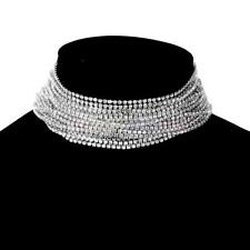 MagiDeal Crystal Rhinestone Collar Choker Necklace Wedding Party Bridal Jewelry