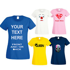 Personalised Custom Printed T-Shirt, Your Own Design, Custom Text, Custom Images