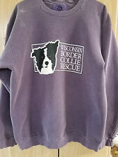 Authentic Pigment Dyed Sweatshirts Wisconsin Border Collie Rescue Size XL