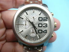 New Old Stock DIESEL 40mm Chronograph Date Leather Strap Quartz Men Watch