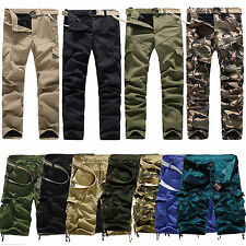 Mens Camo Combat Cotton Work Shorts Pants Casual Military Army Cargo Trousers