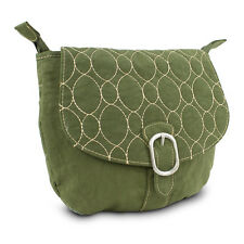 Travelon Crinkle 3-Compartment Flapover Crossbody Shoulder Bag 4 Colors NEW