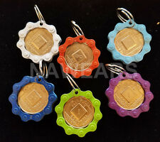 Narcotics Anonymous - NA Bike Chain Medallion Holder Key Ring- Colored Chain
