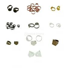 10pcs/ Lot Bezel Adjustable Ring Base Tray Blank Bases Setting Jewelry Findings