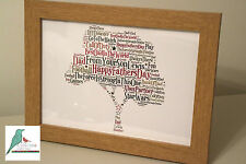 Fathers Day Personalised Word Art Print - A4 framed / unframed & A3 prints