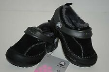 Crocs Dawson Slip On Kids Suede Lined Black Toddler Boys 6, 7, 8, 9  NWT