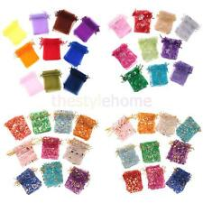 100 pieces Organza Wedding Party Gift Bag Candy Bags Jewelry Pouches