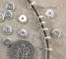Heishi Disk Beads, Tierracast, 6mm Spacers, Silver Plate, 20/100 Pieces, 4211