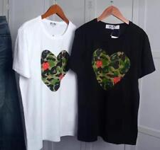 Men's Comme Des Garcons CDG Play Green Heart Short  Women's T-shirts white Black