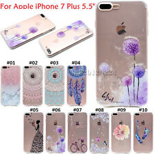 Pictorial Soft TPU Slim Rubber Back Cute Skin Case Cover For Apple iPhone 7 Plus