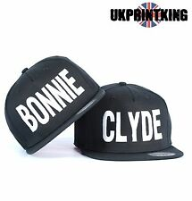 BONNIE AND CLYDE COOL SNAPBACK PAIR FASHION EMBROIDERED RAPPER CAPS HATS