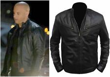 Vipzi Mens New Fast & Furious 6 Vin Diesel 100% Genuine Leather Jacket ALL SIZE