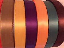 100 Metre Roll Woven Edge Single Sided Polyester Satin Ribbon 25mm or 38mm Wide