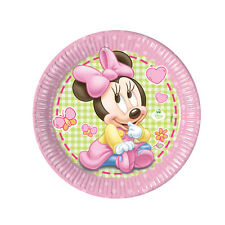8 Baby Minnie Mouse 23Cm Paper Plates Disney Birthday Party Baby Shower Plate