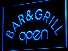 Bar & Grill OPEN Beer Cafe Decor Neon Light Sign