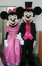 Mickey and Minnie Mouse Mascot Costume party game Birthday Fancy Dress Adult