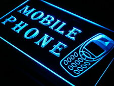 MOBILE PHONE Services Repairs OPEN Light Sign