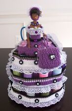 HANDMADE CROCHET BED PILLOW BARBIE DOLL SEWING ESSENTIAL CADDY, 15 yrs +