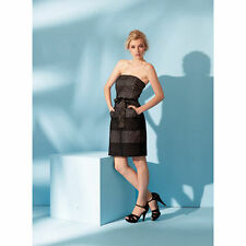 New OASIS Black BNWT £39 Broderie Bandeau Wiggle Evening Club Party Prom Dress