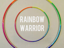 Rainbow Warrior Polypro HDPE Dance & Exercise Hula Hoop COLLAPSIBLE arm hoops