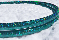 Mermaid Teal Polypro HDPE Dance & Exercise Hula Hoop COLLAPSIBLE arm hoops