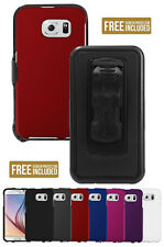 NEW HARD CASE COVER + BELT CLIP HOLSTER + SCREEN PROTECTOR FOR SAMSUNG GALAXY S6