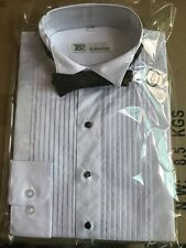 Boy's Standard Cuff Tuxedo Dress Shirt Wing Collar with Bow-Tie KG11 Size: 8--20