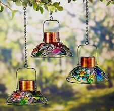 Butterfly Dragonfly Bird SOLAR LAMPS Colorful Hanging Patio Decor Lighting
