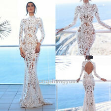 Mermaid Lace Wedding Dresses Backless White Ivory Bridal Gowns Custom New 2017