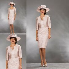 2 Pieces Mother Of The Bride Dresses Lace 3/4 Sleeve Formal Gowns Plus Size New
