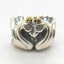 Genuine Authentic S925 Sterling Silver SWAN EMBRACE CHARM Bead