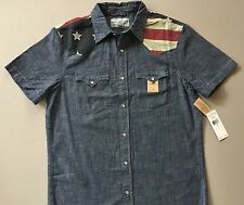 Ralph Lauren Denim & Supply US Flag Yoke Denim Western Shirt Men's Size M NWT