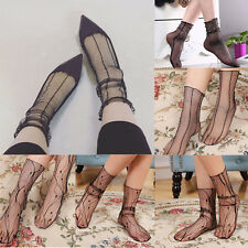 Fashion Ultra-thin Elastic Silky Short Stockings Summer Womens Lace Ankle Socks