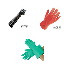 Industrial Heavy Duty Gauntlets Gloves Synthetic Nitrile FREE DELIVERY