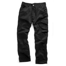 SCRUFFS WORKER TROUSERS BLACK Mens Classic Cargo Combat Work Trouser Pants