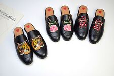 MW009145 - GENUINE LEATHER EMBROIDERED SLIPPER SHOES (WOMEN/MEN SIZES 35 - 46)