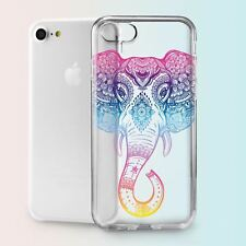 Elephant Henna Boho Mandala TPU Silicone Cover Case Back Apple iPhone 5 6 7 Plus