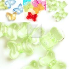 20pcs Transparent Acrylic Spacer Beads Butterfly diy Jewelry 14x18x7mm/16x12x9mm