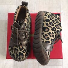 NIB Pom Dapi Baby Girl Shoes Sz 21, 22 Leopard Brown Black Bronze Kelly Basket