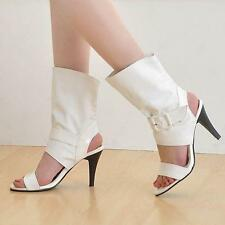 Womens High Heel Sandal Ankle Boot Buckle Open Toe Party Shoes Plus Sz Chic99