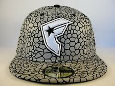 Famous Stars & Straps New Era 59FIFTY Fitted Hat Cap Flashback Gray Black