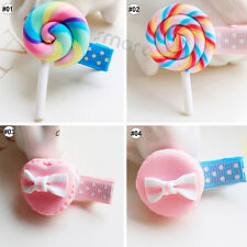 1PCS Mixed Popsicle Cake Design Resin Hair Clip Accessories For Girls Babies