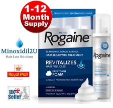 ROGAINE MINOXIDIL FOAM 5% HAIR LOSS REGROWTH - UK STOCK:  1 - 12 MONTH SUPPLY