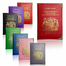 New UK & European Passport Holder PU Leather Protector Cover Wallet